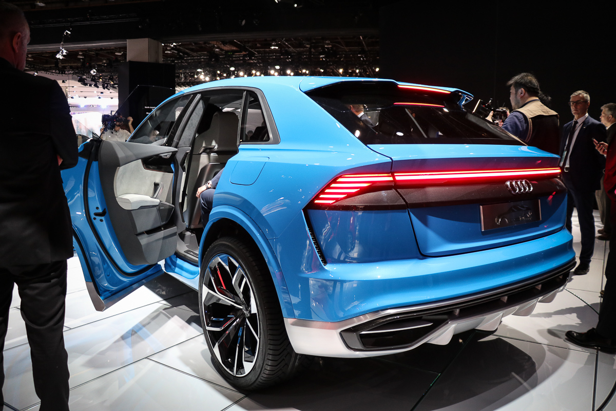 naias 2017 audi q8 concept ist das noch ein k hlergrill. Black Bedroom Furniture Sets. Home Design Ideas