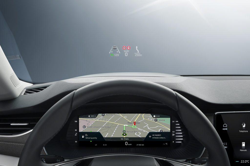 Head-up-Display vom neuen Skoda Octavia