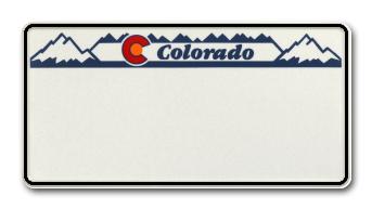 Funschild-USA Colorado 303x153mm Vorschau