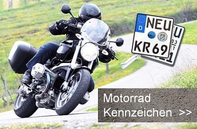 Motorradkennzeichen bestellen