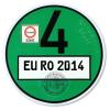 Feinstaubplakette (EURO4-GRÜN) ...