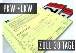 30 Tage Deckungskarte PKW/LKW