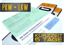 Kurzzeitversicherung 5 Tage inkl. grüne Karte und Schutzbrief