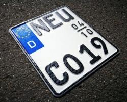 Saisonkennzeichen Motorrad Carbon-Optik