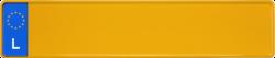 Kennzeichen Luxemburg 520x110mm thumb