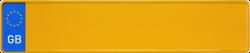 Euroschild Großbritannien gelb 520x110mm thumb