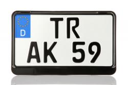 Kennzeichenhalter (Traktor, Leichtkraftrad) schwarz