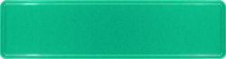 Namensschild mittelmeersegrün 340x90mm thumb