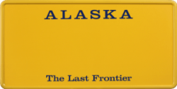 Funschild-USA Alaska 303x153mm thumb