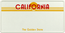 Funschild-USA California 303x153mm thumb
