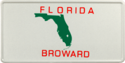 Funschild-USA Florida Broward 303x153mm thumb