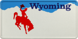 Funschild-USA Wyoming 303x153mm thumb