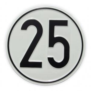 Geschwindigkeits-Schild 25 km/h