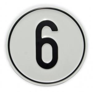 Geschwindigkeits-Schild 6 km/h