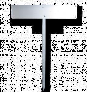 Einschlagpfosten für Parkplatzschilder