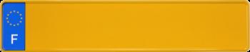 Euroschild Frankreich gelb 520x110mm thumb