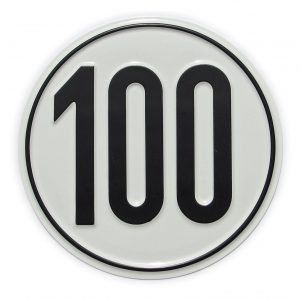 Geschwindigkeits-Schild 100 km/h