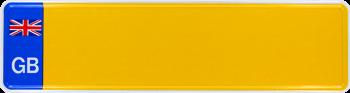 Namensschild Großbritanien 340x90mm thumb