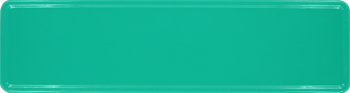 Namensschild meersegrün 340x90mm thumb
