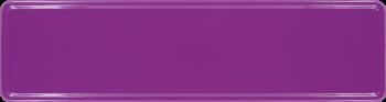 Namensschild violett 340x90mm thumb