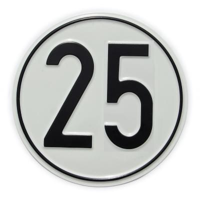Vorschaubild für Geschwindigkeits-Schild 25 km/h