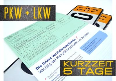 Vorschaubild für Kurzzeitversicherung 5 Tage inkl. grüne Karte und Schutzbrief