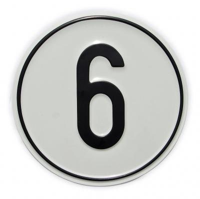Vorschaubild für Geschwindigkeits-Schild 6 km/h