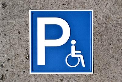 Vorschaubild für Parkplatz für Rollstuhlfahrer Aluminium geprägt; 250 x 250 mm