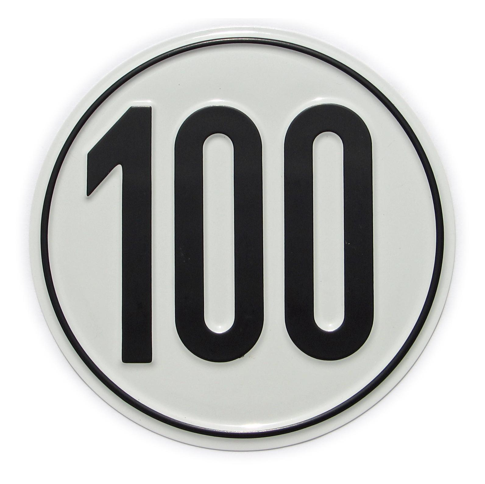 Vorschaubild für Geschwindigkeits-Schild 100 km/h
