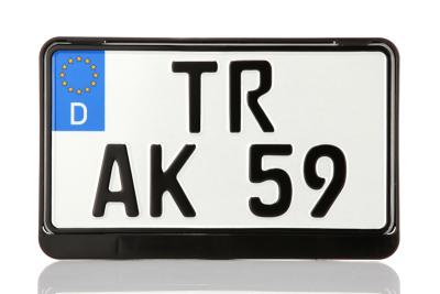 Vorschaubild für Kennzeichenhalter (Traktor, Leichtkraftrad) schwarz